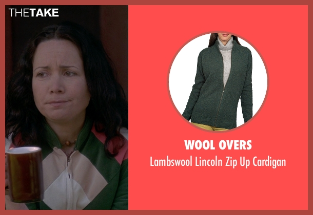 Wool Overs green cardigan from Wet Hot American Summer seen with Janeane Garofalo (Beth)