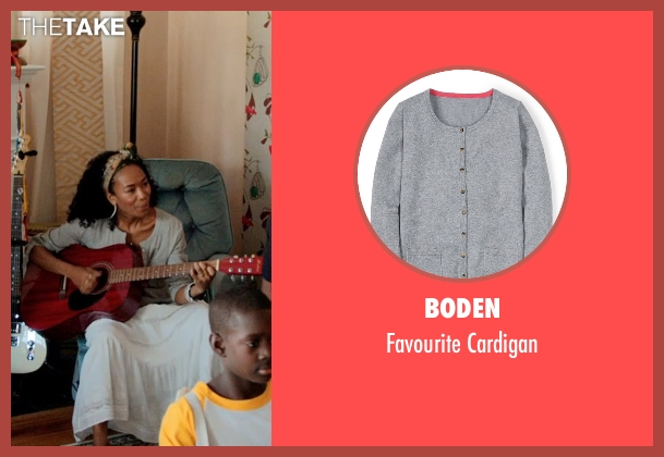 Boden gray cardigan from Black or White seen with Janeline Hayes (Dondi)