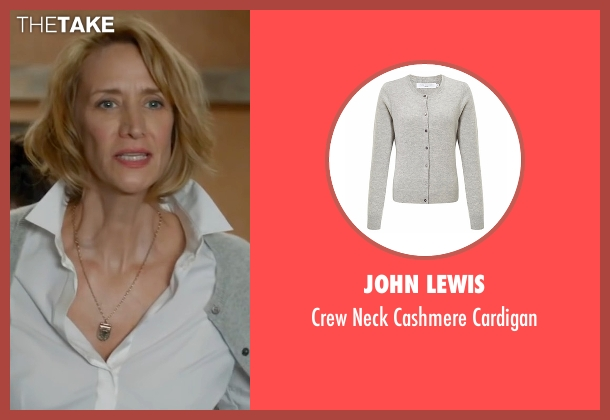 John Lewis gray cardigan from Me Before You seen with Janet McTeer (Camilla Traynor)