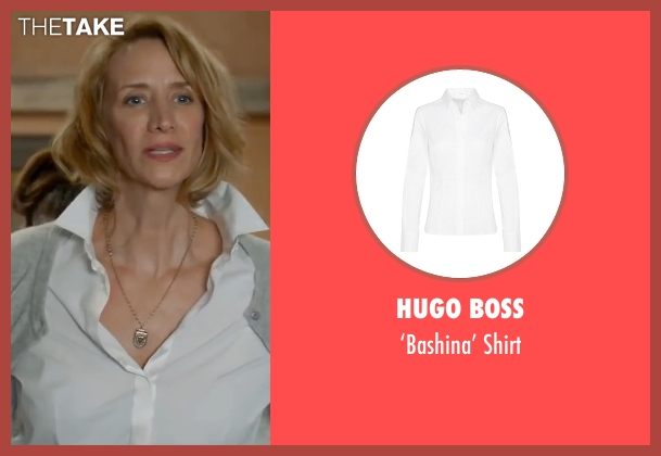Hugo Boss white shirt from Me Before You seen with Janet McTeer (Camilla Traynor)