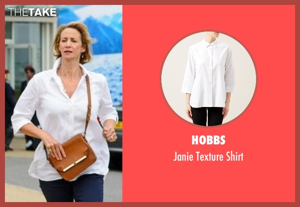 Hobbs white shirt from Me Before You seen with Janet McTeer (Camilla Traynor)