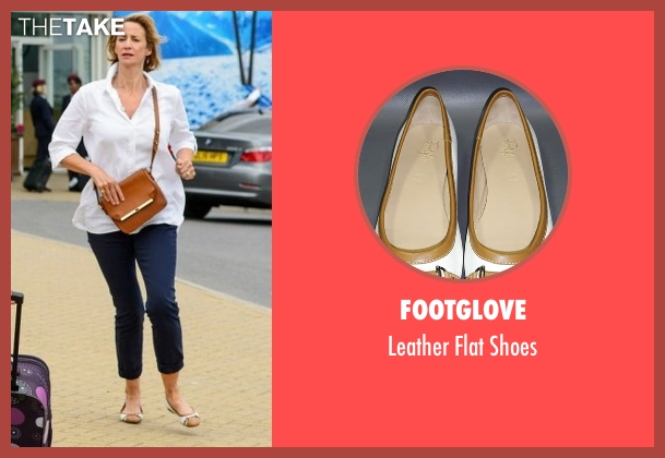 Footglove white shoes from Me Before You seen with Janet McTeer (Camilla Traynor)