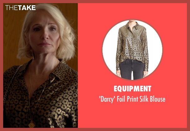 Equipment black blouse from Animal Kingdom seen with Janine 'Smurf' Cody (Ellen Barkin)