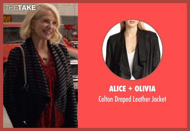 Alice + Olivia black jacket from Animal Kingdom seen with Janine 'Smurf' Cody (Ellen Barkin)