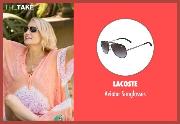 Lacoste black sunglasses from Animal Kingdom seen with Janine 'Smurf' Cody (Ellen Barkin)