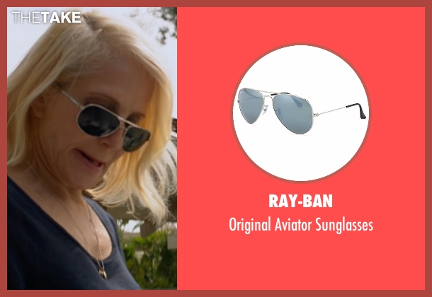 Ray-Ban black sunglasses from Animal Kingdom seen with Janine 'Smurf' Cody (Ellen Barkin)