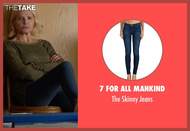 7 for all Mankind blue jeans from Animal Kingdom seen with Janine 'Smurf' Cody (Ellen Barkin)