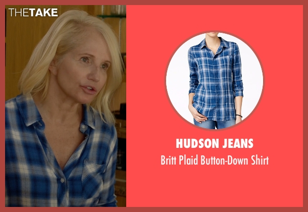 Hudson Jeans blue shirt from Animal Kingdom seen with Janine 'Smurf' Cody (Ellen Barkin)