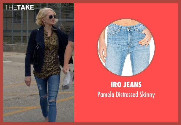 Iro Jeans blue skinny from Animal Kingdom seen with Janine 'Smurf' Cody (Ellen Barkin)