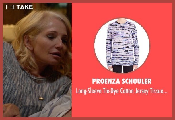 Proenza Schouler blue tee from Animal Kingdom seen with Janine 'Smurf' Cody (Ellen Barkin)