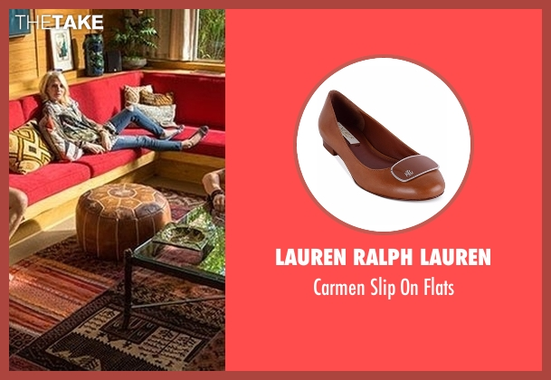 Lauren Ralph Lauren brown flats from Animal Kingdom seen with Janine 'Smurf' Cody (Ellen Barkin)