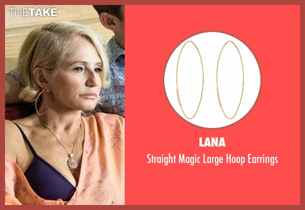 Lana gold earrings from Animal Kingdom seen with Janine 'Smurf' Cody (Ellen Barkin)