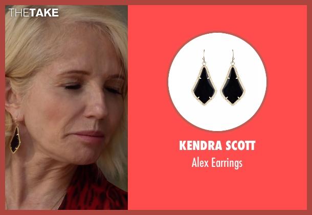 Kendra Scott gold earrings from Animal Kingdom seen with Janine 'Smurf' Cody (Ellen Barkin)