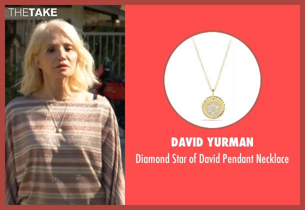 David Yurman gold necklace from Animal Kingdom seen with Janine 'Smurf' Cody (Ellen Barkin)