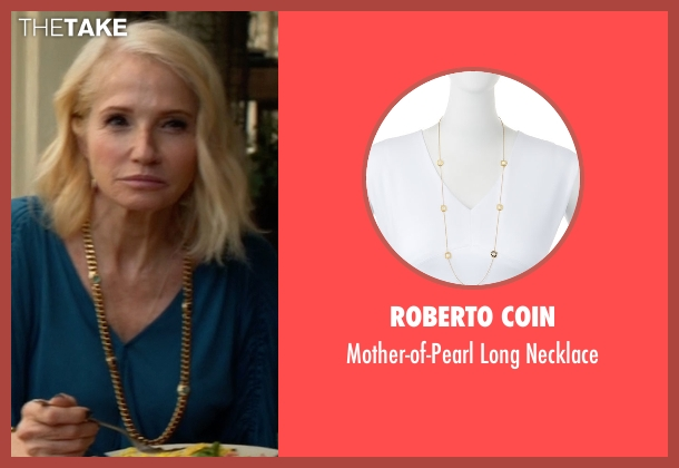 Roberto Coin gold necklace from Animal Kingdom seen with Janine 'Smurf' Cody (Ellen Barkin)
