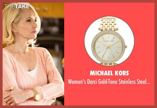 Michael Kors gold watch from Animal Kingdom seen with Janine 'Smurf' Cody (Ellen Barkin)