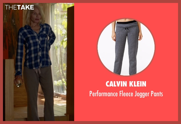 Calvin Klein gray pants from Animal Kingdom seen with Janine 'Smurf' Cody (Ellen Barkin)