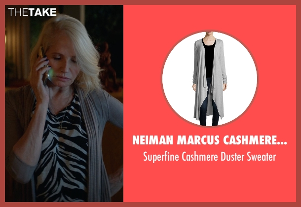 Neiman Marcus Cashmere Collection gray sweater from Animal Kingdom seen with Janine 'Smurf' Cody (Ellen Barkin)