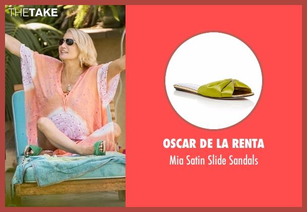 Oscar De La Renta green sandals from Animal Kingdom seen with Janine 'Smurf' Cody (Ellen Barkin)