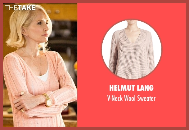 Helmut Lang pink sweater from Animal Kingdom seen with Janine 'Smurf' Cody (Ellen Barkin)