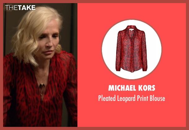 Michael Kors  red blouse from Animal Kingdom seen with Janine 'Smurf' Cody (Ellen Barkin)