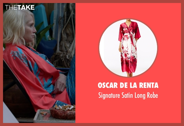 Oscar de la Renta  red robe from Animal Kingdom seen with Janine 'Smurf' Cody (Ellen Barkin)