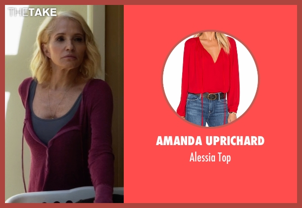 Amanda Uprichard red top from Animal Kingdom seen with Janine 'Smurf' Cody (Ellen Barkin)