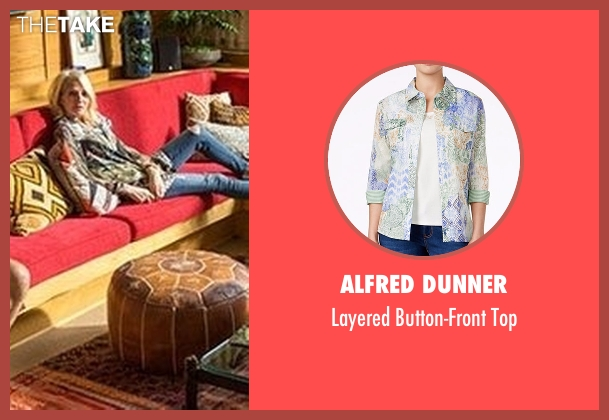 Alfred Dunner white top from Animal Kingdom seen with Janine 'Smurf' Cody (Ellen Barkin)