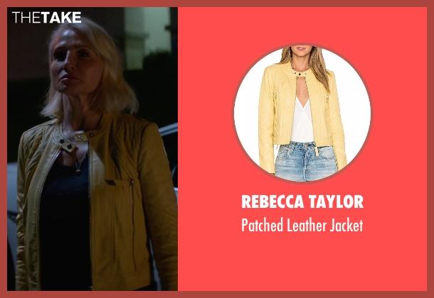 Rebecca Taylor yellow jacket from Animal Kingdom seen with Janine 'Smurf' Cody (Ellen Barkin)