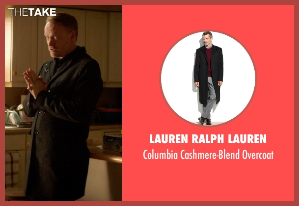 Lauren Ralph Lauren black overcoat from Poltergeist seen with Jared Harris (Carrigan Burke)