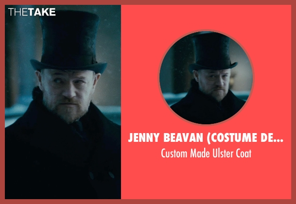 Jenny Beavan (Costume Designer) black coat from Sherlock Holmes: A Game of Shadows seen with Jared Harris (Professor James Moriarty)