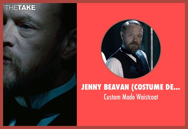 Jenny Beavan (Costume Designer) black waistcoat from Sherlock Holmes: A Game of Shadows seen with Jared Harris (Professor James Moriarty)