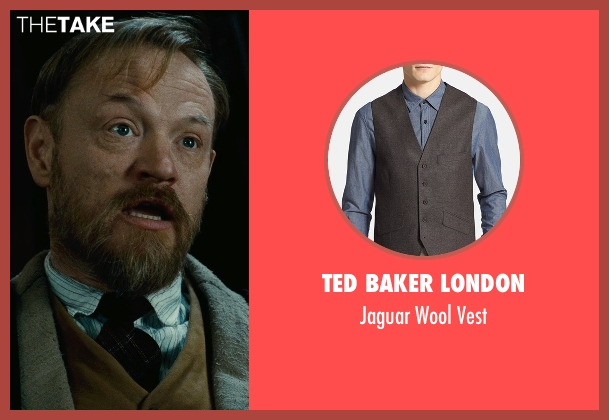 Ted Baker London brown vest from Sherlock Holmes: A Game of Shadows seen with Jared Harris (Professor James Moriarty)