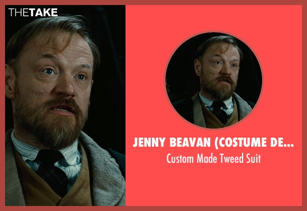 Jenny Beavan (Costume Designer) gray suit from Sherlock Holmes: A Game of Shadows seen with Jared Harris (Professor James Moriarty)