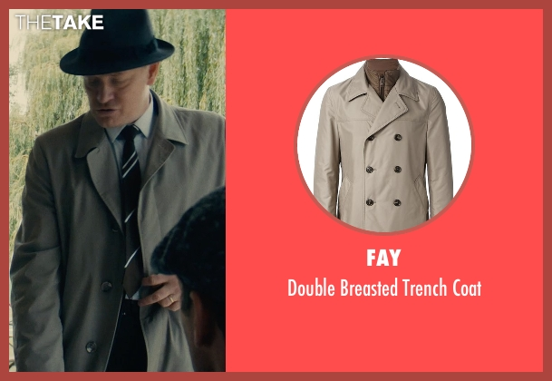 Fay beige coat from The Man from U.N.C.L.E. seen with Jared Harris (Sanders)