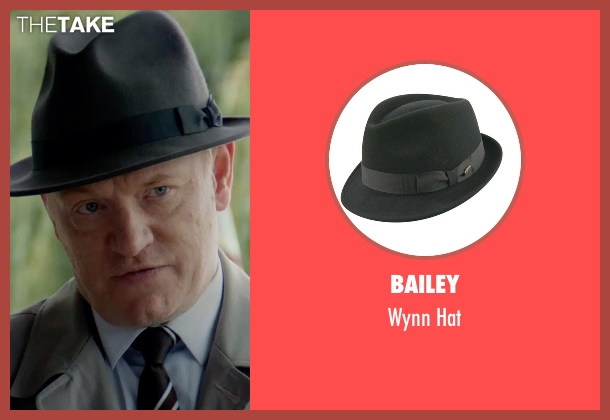 Bailey black hat from The Man from U.N.C.L.E. seen with Jared Harris (Sanders)