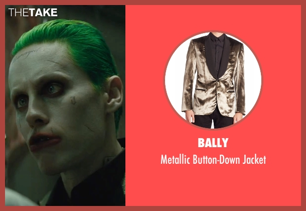 Bally gold jacket from Suicide Squad seen with Jared Leto (The Joker)