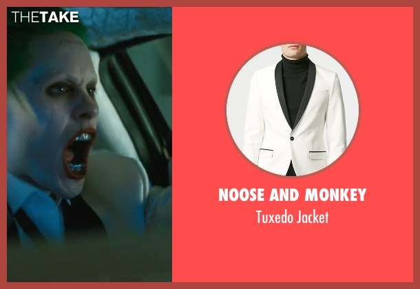 Noose And Monkey white jacket from Suicide Squad seen with Jared Leto (The Joker)