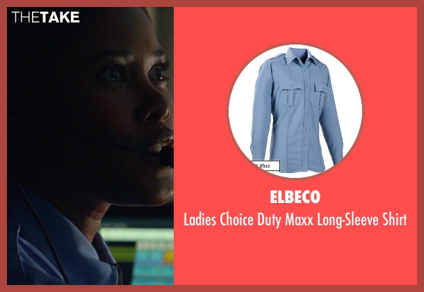 Elbeco blue shirt from Ride Along seen with Jasmine Burke (Dispatcher Gina)