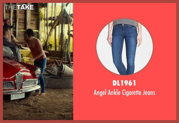 DL1961 blue jeans from The Gunman seen with Jasmine Trinca (Annie)