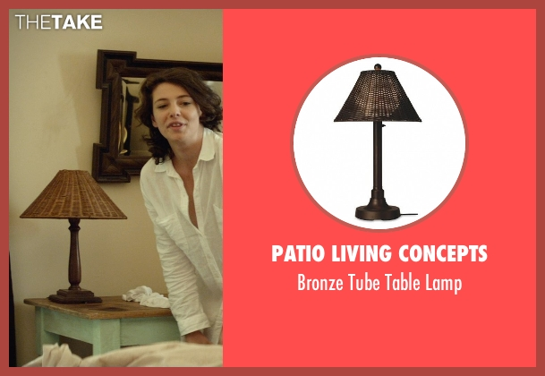 Patio Living Concepts lamp from The Gunman seen with Jasmine Trinca (Annie)