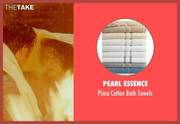 Pearl Essence towels from The Gunman seen with Jasmine Trinca (Annie)