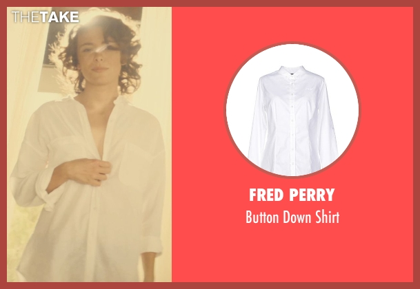 Fred Perry white shirt from The Gunman seen with Jasmine Trinca (Unknown Character)
