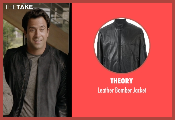 Theory black jacket from Ballers seen with Jason (Troy Garity)