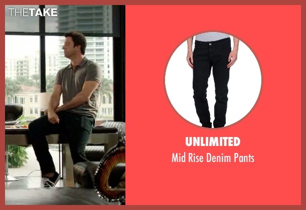 Unlimited black pants from Ballers seen with Jason (Troy Garity)