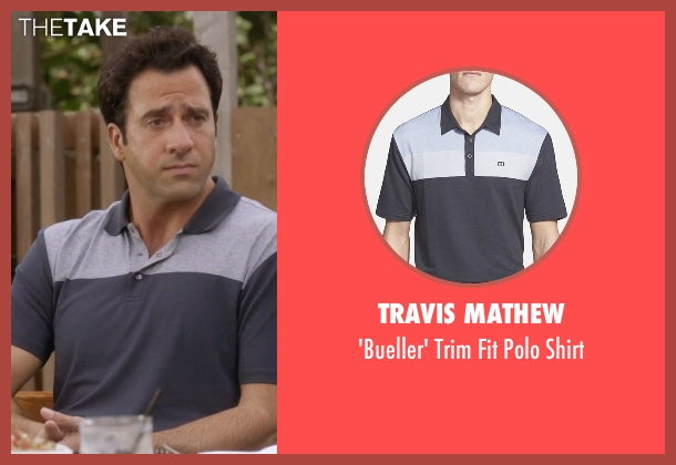 Travis Mathew black shirt from Ballers seen with Jason (Troy Garity)