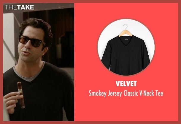 Velvet black tee from Ballers seen with Jason (Troy Garity)