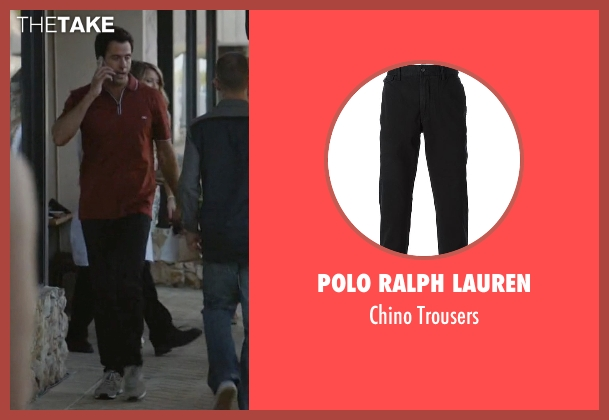 Polo Ralph Lauren black trousers from Ballers seen with Jason (Troy Garity)
