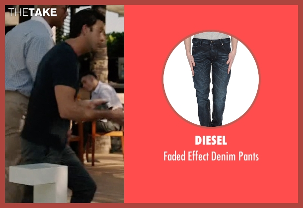 Diesel blue pants from Ballers seen with Jason (Troy Garity)