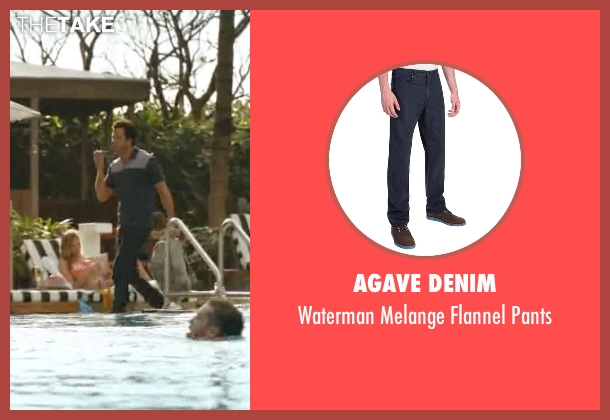 Agave Denim blue pants from Ballers seen with Jason (Troy Garity)